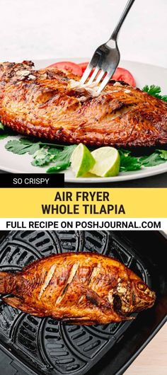 Amazing! This air fryer tilapia is absolutely the healthiest and easiest way to fry fish to perfection! It's a cheap and easy meal making it great for those busy weeknights, but has the taste and wow-factor to make for a special meal, too. It's a low carb and keto-friendly. #tilapia #fish #airfryer #keto #lowcarb How To Cook Tilapia, Healthy Dinner Recipes, Cooking Recipes, Vegan Recipes, Healthy Tilapia, Cheap Dinners, Healthy Eating Habits, Fried Fish, Savoury Dishes