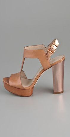 KORS Michael Kors Vernon Platform T-Strap Sandals