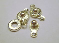 20 sets Silver plated ball snap button clasps by magicgardenstudio, $3.00