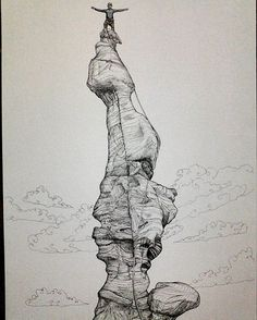Fisher tower~ Commission work from @goneill05 (US), I hope you enjoy my work :) Merry Xmas for everybody who celebrate it! :) #madeinindonesia #climbing #climbers #rockclimber #rockclimbing #adventure #outdoors #outdoor #sketch #sketsa #illustration #ilustrasi #graphicrecord #seeker #fisher_towers