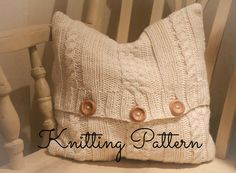 Knitting Pattern - Maria Chunky Cable Cushion Cover - Instant download