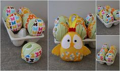 Fabric Easter Eggs!  Love these