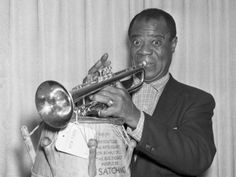 Louis Armstrong, the world's most famous jazz musician,