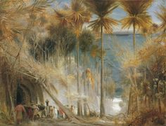"""Painting of the Day! Albert Goodwin (1845-1932) """"Ali Baba abd the Forty Thieves"""" Oil on canvas To see more works by this artist please visit us at: http://www.artrenewal.org/pages/artwork.php?artworkid=32412&size=large"""