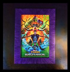 Thor Ranagok poster with the 12x18 frame in Purple Marble