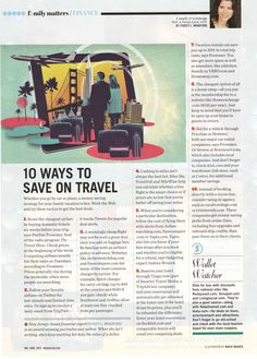 10 Ways to Save on Travel - from Family Circle Magazine
