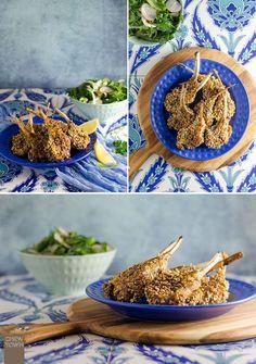 Popcorn Crumbed Lamb Cutlets & Harissa Marinated Lamb Cutlets | Chew Town Food Blog