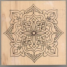 Large Wood Block Rubber Stamp Celtic Art Decorative Pattern
