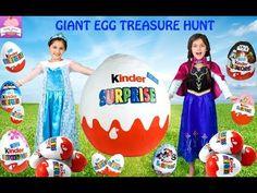 GIANT KINDER SURPRISE EGG 150 Surprises STAR WARS Transformers Disney Princess Toys Play DOH Egg - YouTube