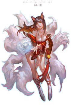 League Of Legends - Ahri by Cushart.deviantart.com on @deviantART
