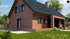 Проект Z351 Стильный мансардный дом с двускатной кровлей - Z500 - Проекты домов и гаражей