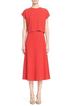 ESCADA Cap Sleeve Popover Dress available at #Nordstrom