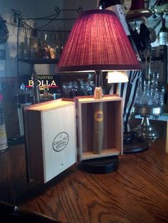 Cigar Box Lamp created by Andrew. | Andrew's Art | Pinterest ...