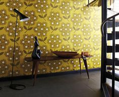 Buy this decorative Orla Kiely Giant Rhododendron wallpaper in Australia. A contemporary floral design in a brown on a mustard base. Colour:- Lichen Wallpaper type:- Non-woven Roll: x Vertical Pattern Repeat (cm):- Match:- Straight Funky Wallpaper, Harlequin Wallpaper, Wallpaper Decor, Orla Kiely, Diy Tapete, Australia Wallpaper, Mellow Yellow, Designer Wallpaper, Mid-century Modern