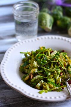 Caramelized brussels sprouts with pecans or walnuts. If you think you don't like brussels sprouts, try this. It will make you a believer. I am obsessed with this recipe, simple, easy, and delicious.