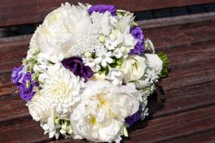 purple and white peonie bouquet,  you can see more of this wedding here www.Celebrations-of-your-life.de/blog