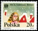 Polish Hans C. Andersen Stamp - Little Match Girl