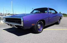 1970 Dodge Charger R/T HEMI Plum Crazy 6 Plum Crazy Chargers were built. Out of this is the only one that comes with the Go Wing in the rear, making it a 1 of 1 R/T HEMI Charger. Old Muscle Cars, Dodge Muscle Cars, Best Muscle Cars, Automobile, Dodge Charger Rt, Plymouth Cars, Dodge Vehicles, Dodge Power Wagon, Mopar