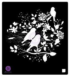 Prima Birdy Nest 6 x 6 Stencil Mask Set