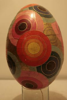 Art Nouvaeu German Easter Egg Candy Container Geometric Litho 8 1 2 inches Long   eBay