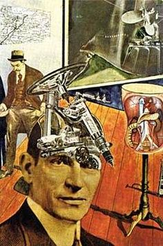 Raoul Hausmann, Tatlin at Home, 1920.  Dadaist were the first to exploit the medium of photomontage to its full potential.