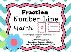 4 DIFFERENT ACTIVITIES USING MATERIALS IN THIS FILE!!  How well can your students identify fractions on a number line?  Give them the practice they need and the practice you desire!  Students practice locating fractions on a number line by matching the number lines with their fraction cards.