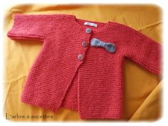 Gilet point mousse potiron en 2-3 ans (et son tuto !)