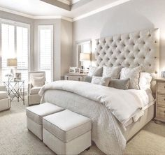 Master Bedroom Interior Design Ideas, Color Scheme plus Decor Master Bedroom Design, Dream Bedroom, Home Bedroom, Bedroom Decor, Master Bedrooms, Master Suite, Home Interior, Interior Design, Suites