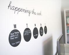 What's happening this week? Organized activities with a wall calendar made using the Silhouette Cameo. Silhouette America Blog.