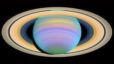 Saturn is seen here