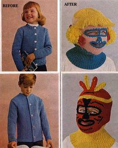"""Dark Roasted Blend: Strange Knits and Yarn Monsters (did a search for """"ugly crochet images…lol) Crochet Humor, Knit Crochet, Funny Crochet, Yarn Monsters, Yarn Crafts, Being Ugly, Vintage Photos, Just In Case, Knitting Patterns"""