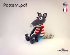 Pattern Sheep the Wolf (inspired) by Croc's Betty on Etsy #crochet #crocsbetty #pattern #tuto #tutorial #kawaii #toy #wolf #loup