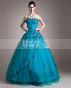 http://www.trouws.com/feestjurken-c4 garen satijn beading applique gelaagde lieverd vloer lengte quinceanera jurken - €248.32 , Trouws.com