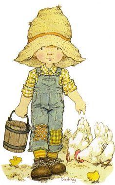 Happy Childhood World by Sarah Key little helper Sarah Key, Holly Hobbie, Decoupage, Sara Key Imagenes, Vintage Cards, Retro Vintage, Australian Artists, Illustrations, Cute Illustration