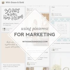 Using Pinterest for Marketing Social Media Training, Social Media Tips, Paper Crowns, Pinterest Marketing, Personal Branding, Online Marketing, Lettering, Learning, Words