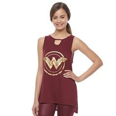 fa32f89e22c06 Juniors  Her Universe Wonder Woman Shield Graphic Tank by DC Comics     Watch your inner Wonder Woman come to life with this juniors  Her Universe  tank top.