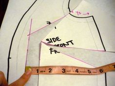 full bust adjustment along a princess seam (tissue fitting or making a muslin)