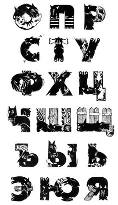 The life of a Scottish Terrier (handmade font) by Leta Che