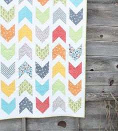 Cluck Cluck Sew - Pow Wow Chevron Arrow Quilt Pattern