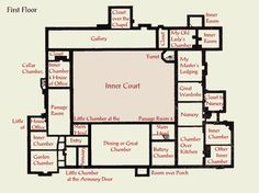 Ingatestone House Tudor plan, 2nd floor