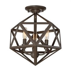 Quoizel LWS3293B Liberty Park 3-Light Semi Flush