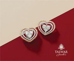 Heart Jewelry, Photo Jewelry, Gold Jewelry, Jewelery, Jewelry Accessories, Jewelry Design, Gold Diamond Earrings, Gold Earrings Designs, Diamond Studs