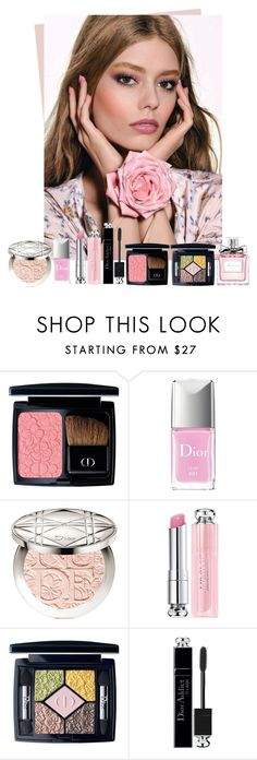 """""""Dior Glowing Gardens Collection 2016"""" by sakuragirl ❤ liked on Polyvore featuring beauty, Christian Dior, Beauty, Dior, makeup and spring2016"""