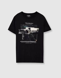 'Into the wild' print T-shirt - T-shirts - Clothing - Man - PULL&BEAR Indonesia