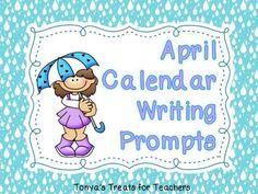 April Calendar Writing Prompts product from Tonyas-Treats-4-Teachers on TeachersNotebook.com