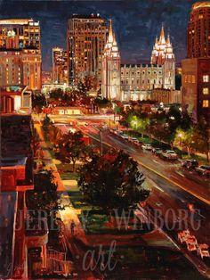 Salt Lake City temple downtown by Jeremy Winborg