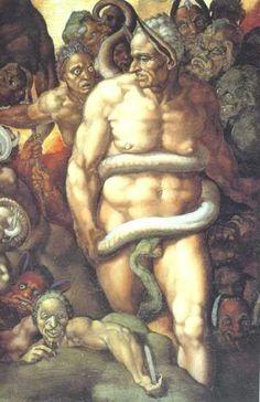 Las pinturas de la Capilla Sixtina de la Catedral de San Pedro de Roma son una cima inalcanzable del arte universal. Sus pinturas, su miríada de personajes, se pueden leer tal cual, o, de una manera menos obvia, como aviesas o curiosas puestas en escena con las que su autor quiso decir sin decir. http://www.guias.travel/blog/las-malas-artes-de-miguel-angel-hacen-sombra-en-la-capilla-sixtina/ & http://www.viajararoma.com/?page=entradas-vaticano-online.php