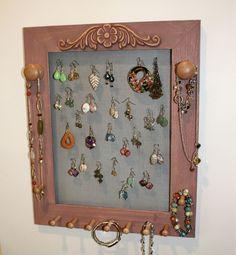 creative ideas for earring holders -