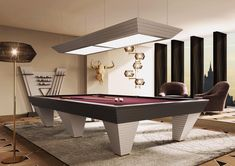 Billiard room with the stunning New Desire Pool Table by Vismara Design, a furniture piece with a strong presence and a contemporary design. Pool Table Room, Pool Tables, Professional Pool Table, Feng Shui, Home Theater Rooms, Luxury Furniture Brands, Billiard Room, Italian Furniture, Furniture Design