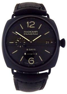Panerai Radiomir 8 Days Ceramica PAM00384 Ceramic Watch